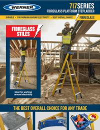 Werner SellSheet 717 Fibreglass Platform Step Ladder