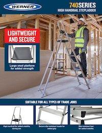 Werner SellSheet 740 & 741 High Handrail Step Ladder
