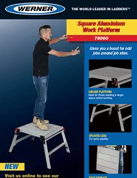 Werner 78060 Square Work Platform Sellsheet