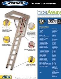 Werner Hideaway Timber Loft Ladder Sellheet