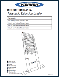 Werner Telescopic Extension Ladder User Instructions