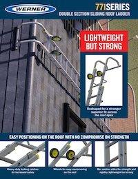 Werner Double Section Roof Ladder Sellsheet