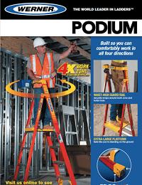Werner Podium Fibreglass Step Ladder Sellsheet