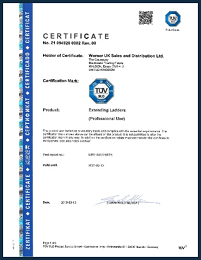 WernerCo UK TUV SUD Certificate Extending Ladders Professional Use